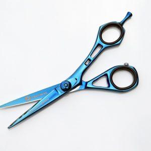 """Hairdressing Scissor Blue Titanium Series 5.5"""" SURGI CORP INTL"""